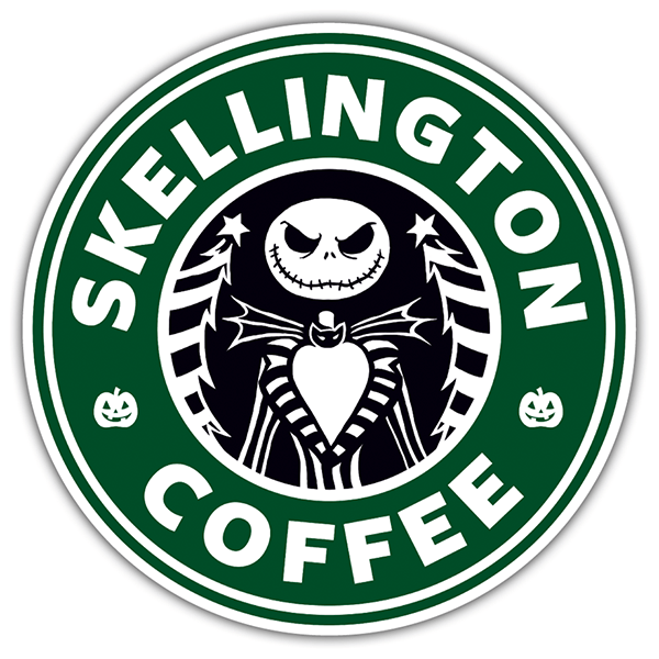 Car & Motorbike Stickers: Skellington Coffee
