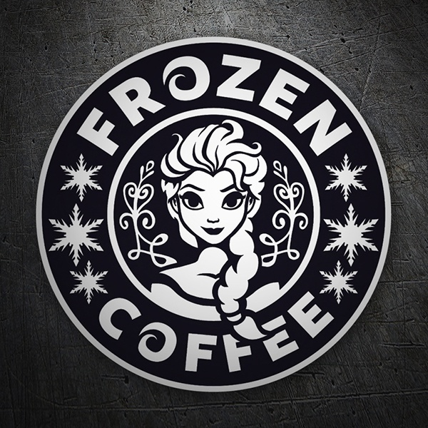 Car & Motorbike Stickers: Frozen Coffee 1