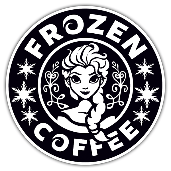 Car & Motorbike Stickers: Frozen Coffee 0