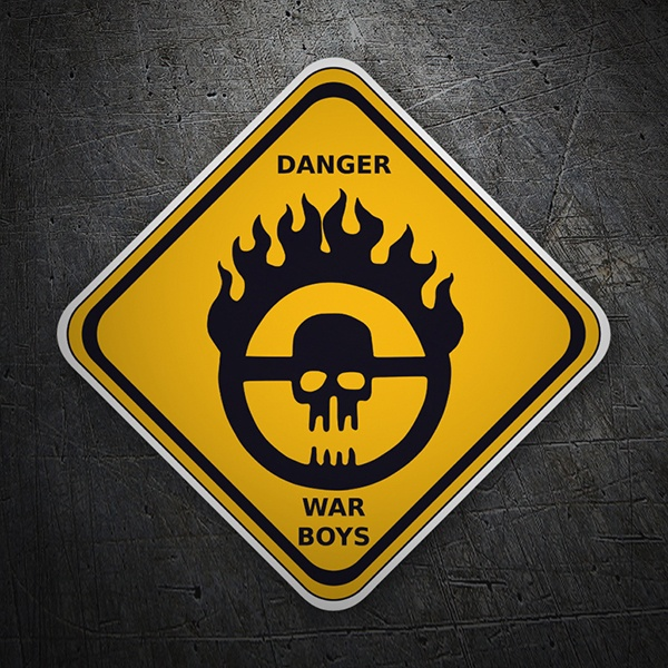 Car & Motorbike Stickers: Danger War Boys
