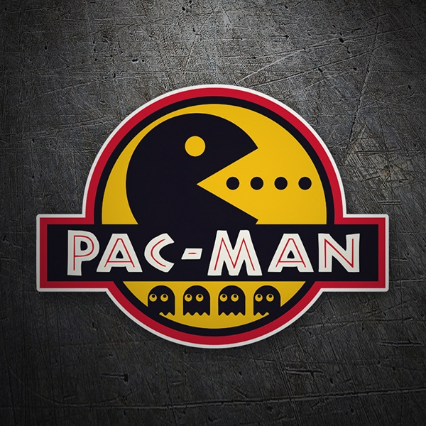 Car & Motorbike Stickers: Jurassic Pac Man