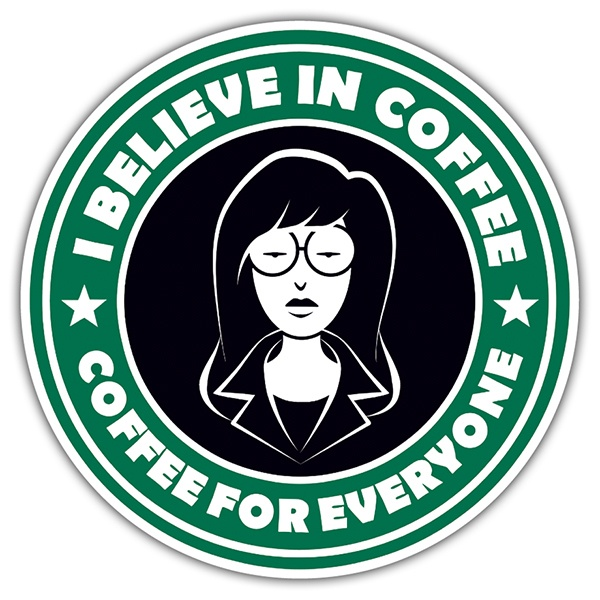 Car & Motorbike Stickers: I believe in coffee