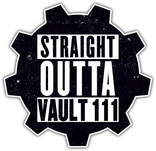 Car & Motorbike Stickers: Straight Outta Vault 111