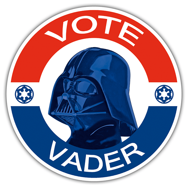 Car and Motorbike Stickers: Vote Vader