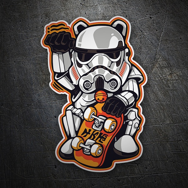 Car & Motorbike Stickers: Troop assault on skateboard