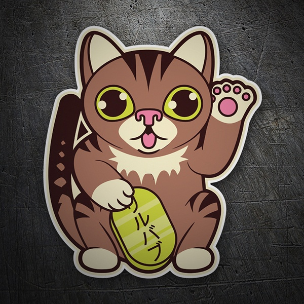 Car & Motorbike Stickers: Chinese cat greeting