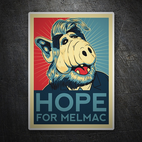 Car & Motorbike Stickers: ALF, hope for Melmac