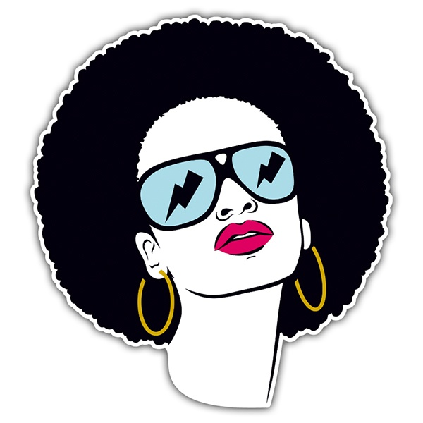 Car & Motorbike Stickers: funk woman