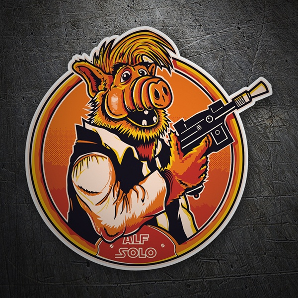 Car & Motorbike Stickers: Alf Solo