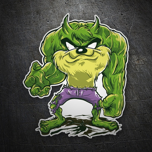 Car & Motorbike Stickers: Hulk from Tasmania