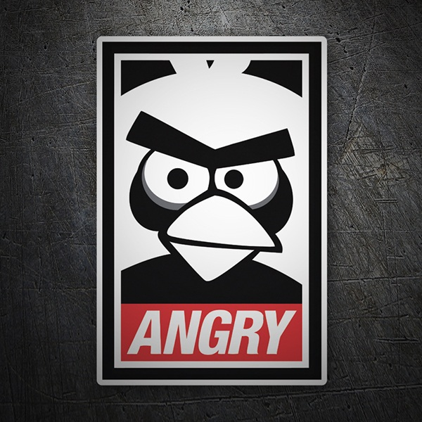 Car & Motorbike Stickers: Angry Birds Obey
