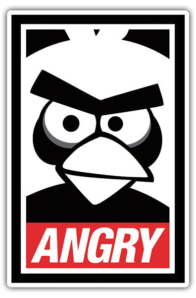 Car and Motorbike Stickers: Angry Birds Obey