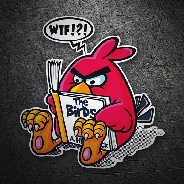 Car & Motorbike Stickers: Angry Birds Hitchcock