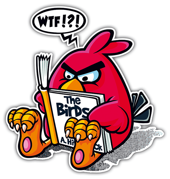 Car and Motorbike Stickers: Angry Birds Hitchcock