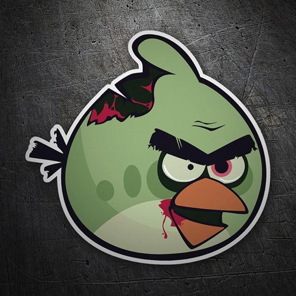 Car motorbike stickers angry birds zombie