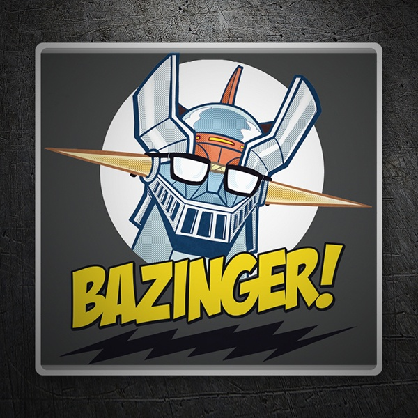 Car & Motorbike Stickers: Mazinger Z in The Big Bang Theory