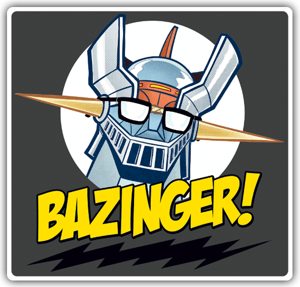 Car and Motorbike Stickers: Bazinger