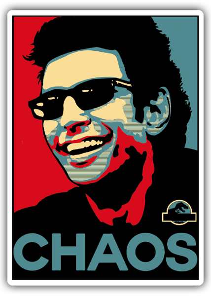 Car and Motorbike Stickers: Dr. Ian Malcolm Chaos