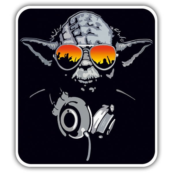 Car & Motorbike Stickers: Yoda DJ