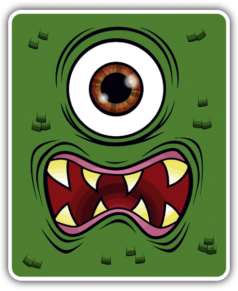 Car & Motorbike Stickers: One eye Monster
