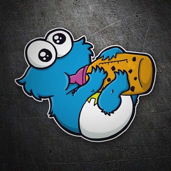 Car & Motorbike Stickers: Baby cookie monster