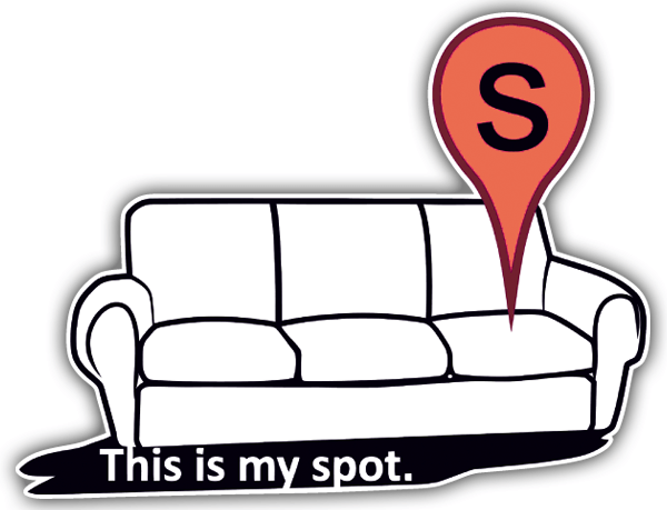 Car & Motorbike Stickers: This is my spot