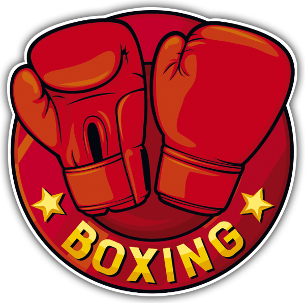 Car & Motorbike Stickers: Boxing gloves