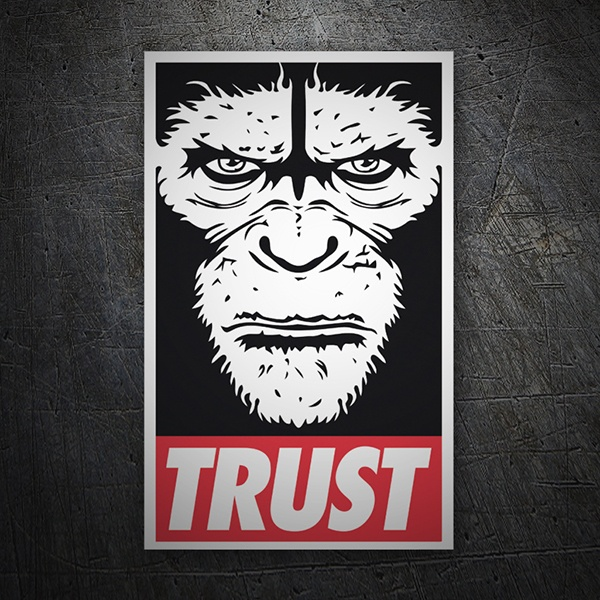 Car & Motorbike Stickers: Trust 1