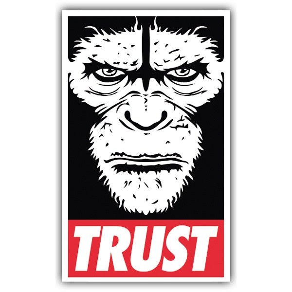 Car & Motorbike Stickers: Trust