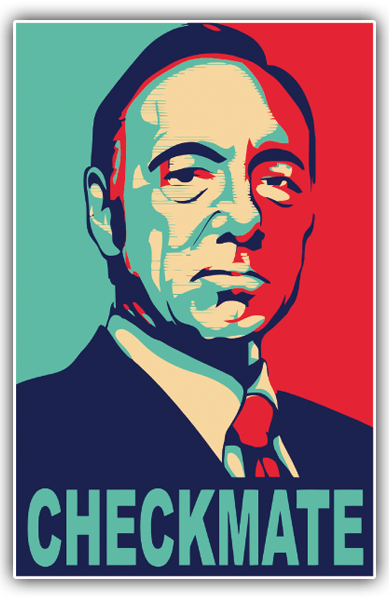 Car and Motorbike Stickers: Kevin Spacey Chekmate