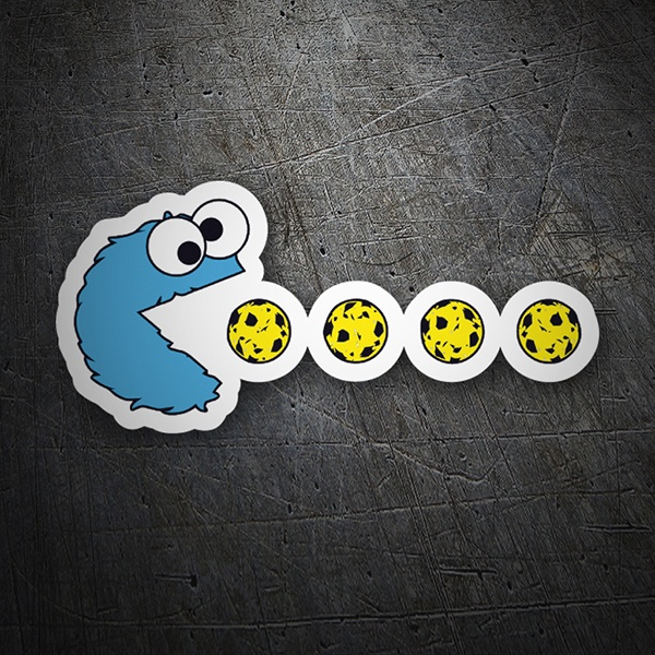 Car & Motorbike Stickers: Pac-Man Cookie Monster