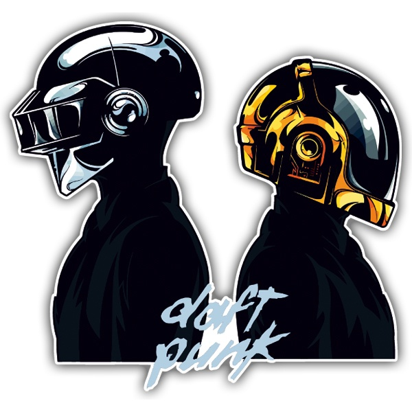 Car and Motorbike Stickers: Daft Punk