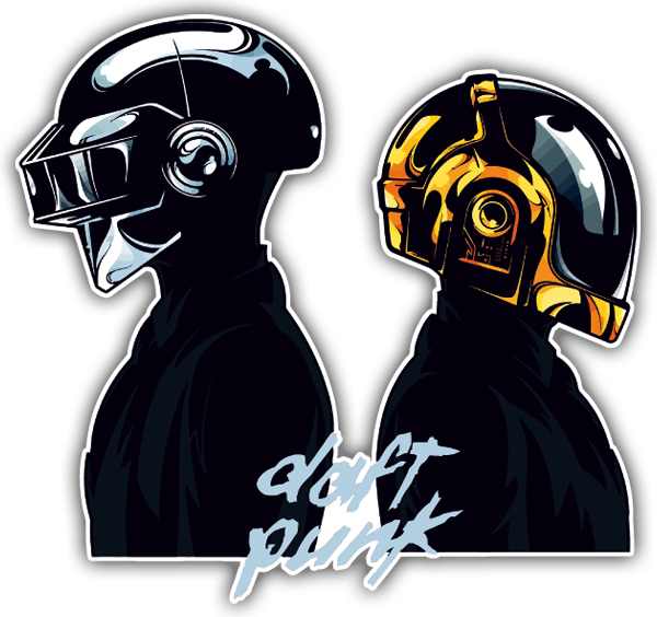 Car and Motorbike Stickers: Daft Punk 0