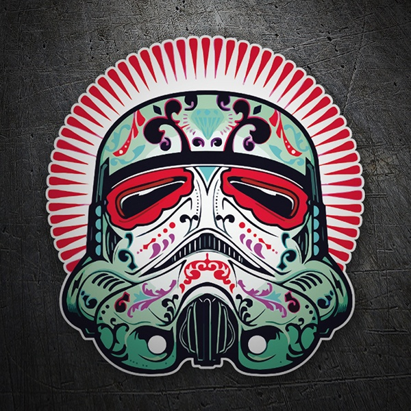 Car and Motorbike Stickers: Catrina Stormtrooper