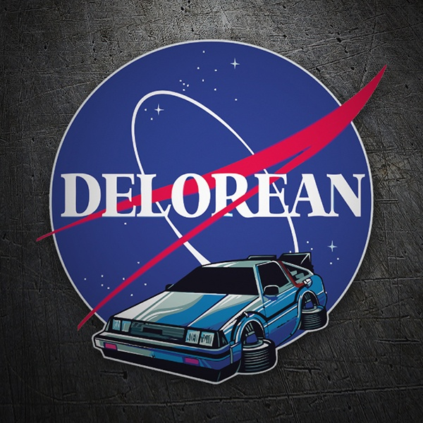 Car & Motorbike Stickers: Delorean Nasa