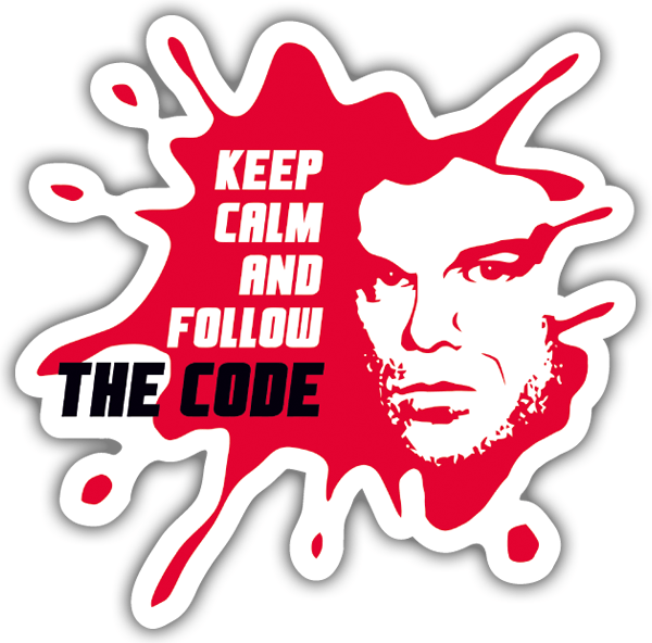 Car and Motorbike Stickers: Dexter The Code
