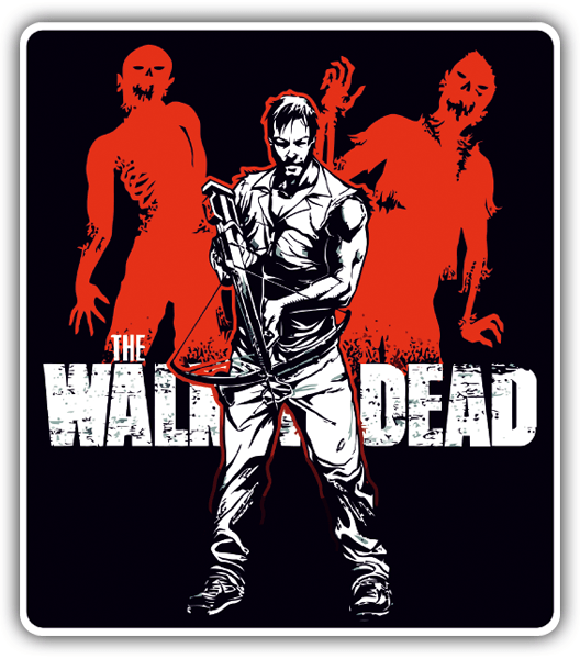 Car & Motorbike Stickers: Daryl Walking Dead