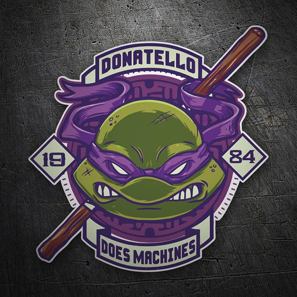 Car & Motorbike Stickers: Donatello 1984