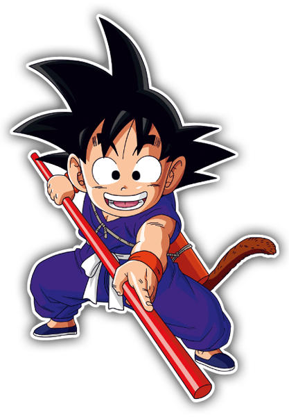 Car & Motorbike Stickers: Goku stick
