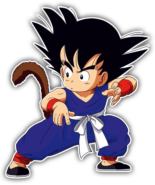 Car and Motorbike Stickers: Goku defense