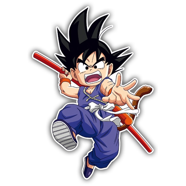 Car & Motorbike Stickers: Goku attack