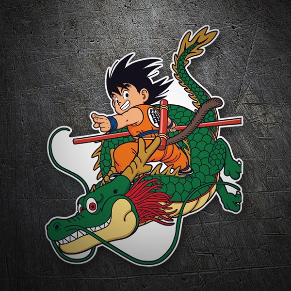 Car & Motorbike Stickers: Goku & Dragon