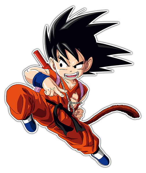 Car and Motorbike Stickers: Goku knee