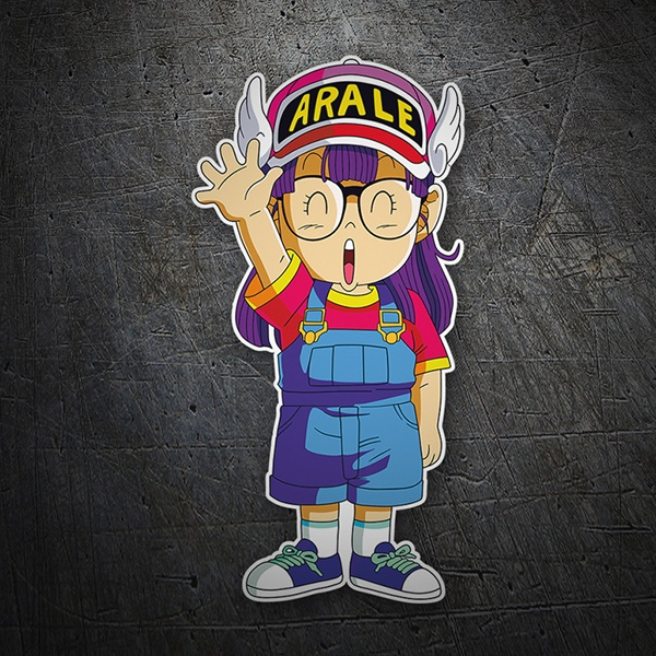 Car and Motorbike Stickers: Arale