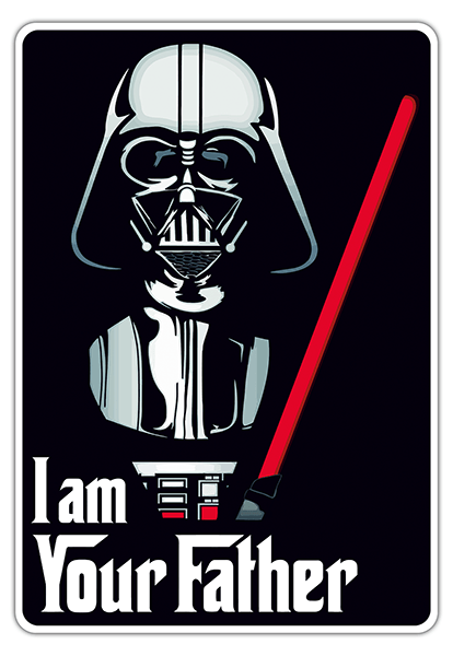 Car & Motorbike Stickers: I am your father