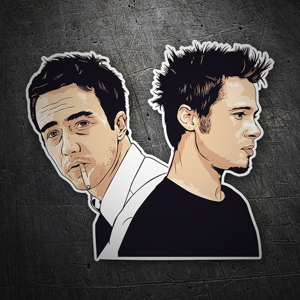 Car & Motorbike Stickers:  Tyler Durden