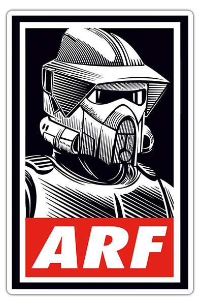 Car & Motorbike Stickers: Alf stormtrooper