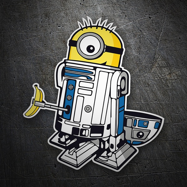 Car and Motorbike Stickers: Minion R2D2