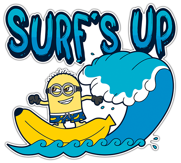 Car & Motorbike Stickers: Minion surfer