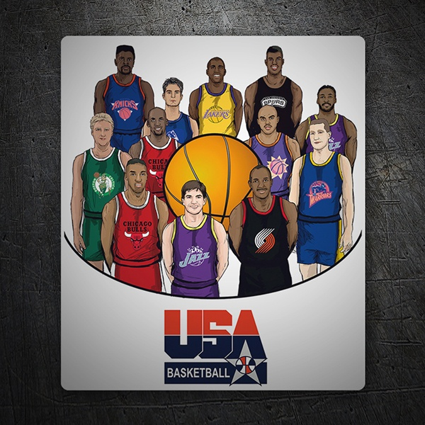 Wall Stickers: Dream team USA